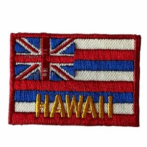Vintage HAWAII Flag Embroidered Sew On Patch